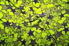 Baumwolljersey Jersey Sterne Stars kiwi lila J.Swafing Vicente Öko-Tex 100