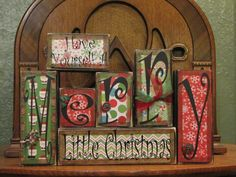 Christmas Sign Word Blocks  Have Yourself by PunkinSeedProduction