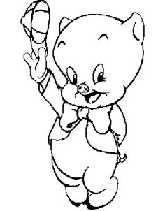 Greet Porky Pig Coloring Pages - Looney Tunes cartoon coloring pages