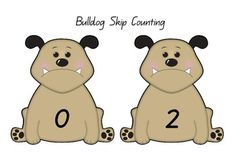 All bulldog cards can be cut and laminated. These cards can be used for ordering numbers as a whole class or in maths center activities. Includes  bulldog cards  cards in increments of two (up to 100).