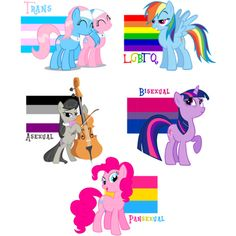 F*ck Yeah LGBT ❤ liked on Polyvore featuring my little pony, fillers, random, animals and art