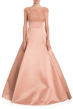 Lace Top Duchesse Satin Gown | Jason Wu | BySymphony