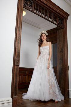 Wtoo by Watters Lizbeth Gown Bhldn Wedding Dress, Wedding Dress Trends, Best Wedding Dresses, Bridal Gowns, Wedding Gowns, Fall Wedding, Simple Bridal Dresses, Wedding Shot, Chic Wedding