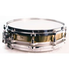 Pearl 14 x 3.5 Free Floating Brass Piccolo Snare Drum (Pre-Owned). #pearl #snare #drum