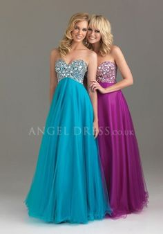 Tulle Sweetheart Princess Dropped Floor Length Sleeveless Prom Dresses