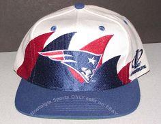 Vintage 90 s NFL PATRIOTS Logo Athletic DOUBLE SharkTooth SnapBack HAT NWOT  NOS  LogoAthletic  NewEnglandPatriots 5da46ba643a3