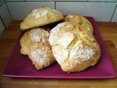 Petits pains sans pétrissage (recette pour farine T45)