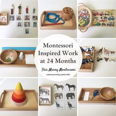 Montessori Inspired Work at 24 Months