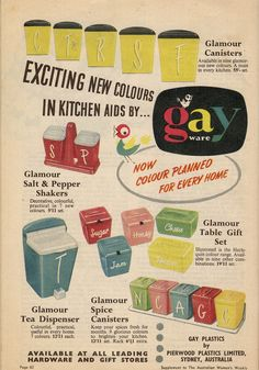 Cool to see this vintage add. I've seen a few of these pieces on EBay and Pinterest!  -Lindsay