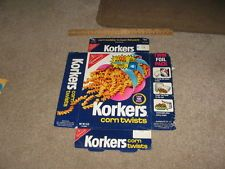 vintage nabisco cracker boxes | vintage cracker Nabisco KORKERS corn chip twists 1972 snack food box ...
