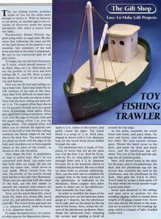Wooden Toy Fishing Trawler - Wooden Toy Plans