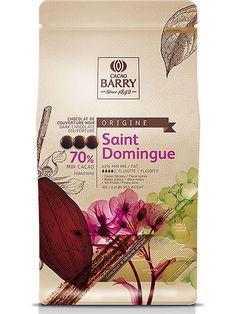 Chocolat noir Saint Domingue en pistoles 70% en 1 kg - Cacao Barry