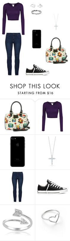 """""""Untitled #137"""" by rorschachsjournal ❤ liked on Polyvore featuring Loungefly, LE3NO, Roberto Coin, Converse, Journee Collection and Jordan Askill"""