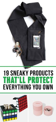 19 Stealthy Products That'll Protect All Your Things.heeeeey Christmas presents! Gadgets And Gizmos, Cool Gadgets, Buzzfeed Articles, Take My Money, Cool Inventions, Thing 1, Looks Cool, Cool Items, Cool Gifts