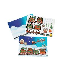 Use for Story problems Christmas+Train+Sticker+Sheets+-+OrientalTrading.com