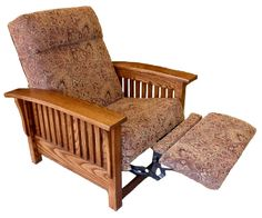 High Quality Mission Style Recliners In A Variety Of Stain And Fabric Options