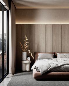 Bedroom Bed Design, Modern Bedroom Design, Home Room Design, Home Bedroom, Home Interior Design, Interior Architecture, Interior Design Wallpaper, Bedroom Design Minimalist, Modern Furniture Design