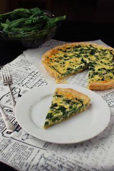 Spinach quiche by Foodlover.