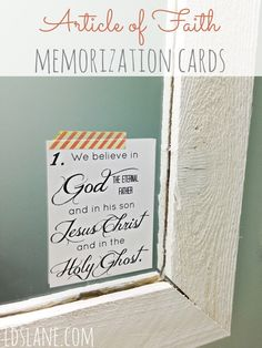 Articles of Faith Memorization Cards - Printables ldslane.net