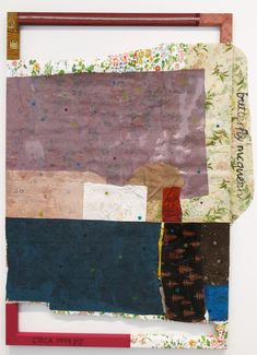 Tameka Jenean Norris   Butterfly McQueen , 2014 acrylic and oil on fabric and wallpaper 40 x 60 inches 101.6 x 152.4 cm