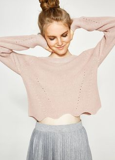 Buy online Knitted pullover with wavy hemline on OVSFASHION.COM. Find the best offers for the category Pullovers and Chunky Knitwear of the collection 2017.