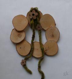 gkkreativ: Türkranz aus Holzscheiben