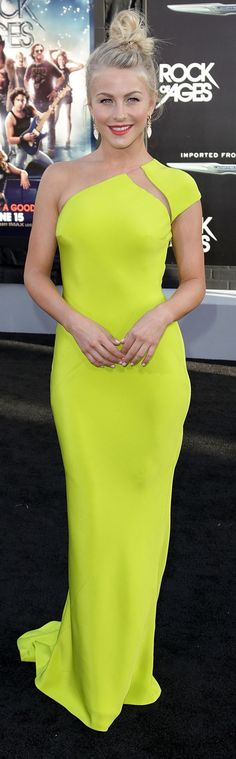 Kaufman Franco neon yellow dress. How in the world does that sleeve stay on...? I don't hate this one, but it's a bit weird.