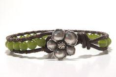 Green Cats Eye Beaded Wrap Bracelet