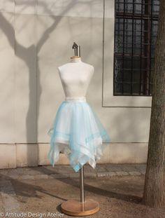 Tule Skirt  Asymmetrical 4 layers square cut by AttitudeBalletShop