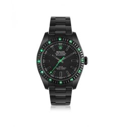 MAD Customized Watches Customized Rolex Milgauss Emerald Baguette Men's Watch