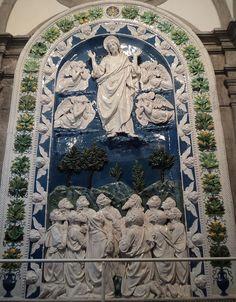 Ascensione di Gesù A Della Robbia 1480 - Santuario della Verna - Basilica maggiore