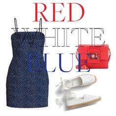 Red white and blue Red And White, Shoe Bag, Polyvore, Blue, Outfits, Shopping, Design, Women, Fashion