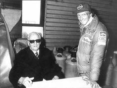 Enzo Ferrari e Niki Lauda