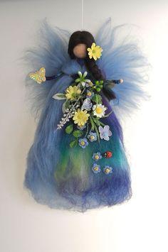 BACHUFER - FEE ELFE Jahreszeitentisch Märchenwolle