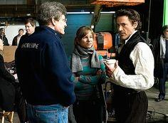 "Susan and Robert Downey Jr. on the set of ""Sherlock Holmes,"" 2009."
