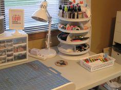 Organizational Tool from Harbor Freight #DIY #Crafts #DIYCrafts #HarborFreight #RevolvingTray #Storage #MakeUp #art