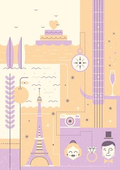 Le Mariage by Alex Monzó, via Behance