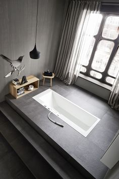 ERGO-NOMIC Built-in bathtub by Rexa Design design Giulio Gianturco