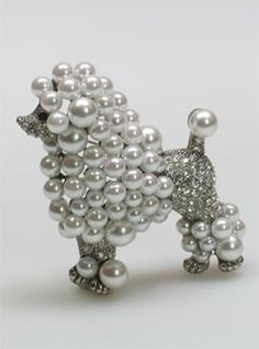 Poodle Brooch from Linda Bee