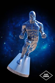Here's my fan art of the Silver Surfer. Sculpted in Zbrush and Rendered in Keyshot :)