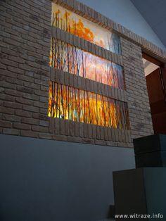 Fused glass panels in private house. Warszawa, Polska www.witraze.info