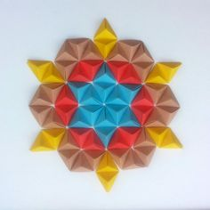 Mandala Wall Art Decor  Geometric Artwork  3D by TaniaOrigami