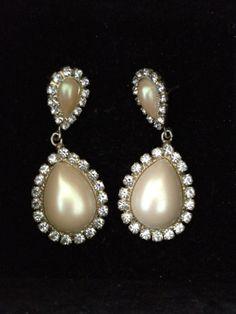 Vintage Faux Pearl Drop Earrings Gift Jewelery by RubysLittleShop, £7.50