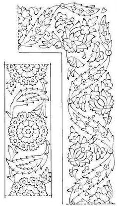 Border Pattern, Pattern Art, Pattern Design, Turkish Design, Turkish Art, Arte Judaica, Turkish Pattern, Islamic Art Pattern, Doodles