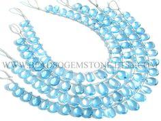 Semiprecious Gemstone Sky Blue Topaz Bead,Pear Bead Smooth,(Quality AAA) / 5x7.5 to 7x10.5 mm / 18 cm / BLUETO-016 / Bead For Jewelry Making by beadsogemstone on Etsy