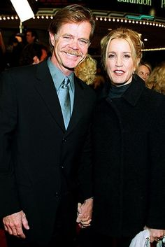 27 Celebrity Couples Who Prove Love Can Last A Lifetime ~ FELICITY HUFFMAN & JOHN H MACY, MARRIED SINCE  1997