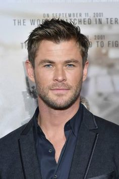 Chris Hemsworth at the premiere of 12 Strong.