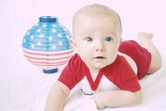 A patriotic 5-month-old Nicholas. Submitted by Misty T. -- Choose your favorite photo and submit your vote by August 6, 2012 for a chance to win a gift card for children's books!