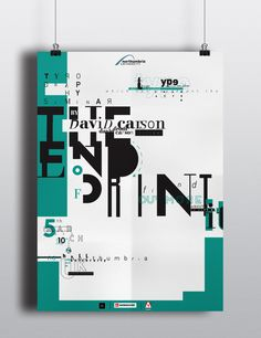 The End Of Print by David Carson Poster on Behance