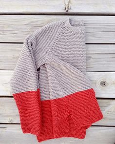 knit inspiration - like this 2-color garter stitch sweater. (from garment house: pattern for sale)